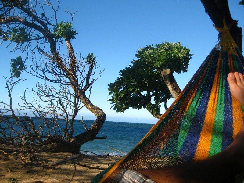 Lying in a Hammock off of Maui