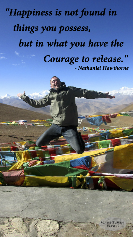 Courage Happiness Best Travel Quotes Everest Jump Tibet China Asia