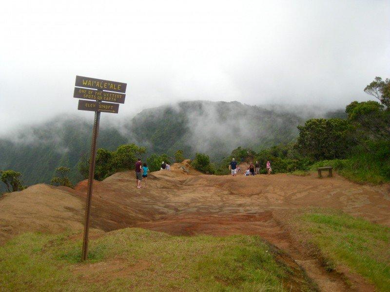 The wettest spot on earth; Waimea Canyon, Kauai Hiking Trail.