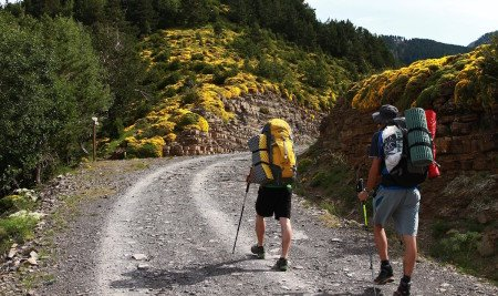 Take an outdoor adventure backpacking.