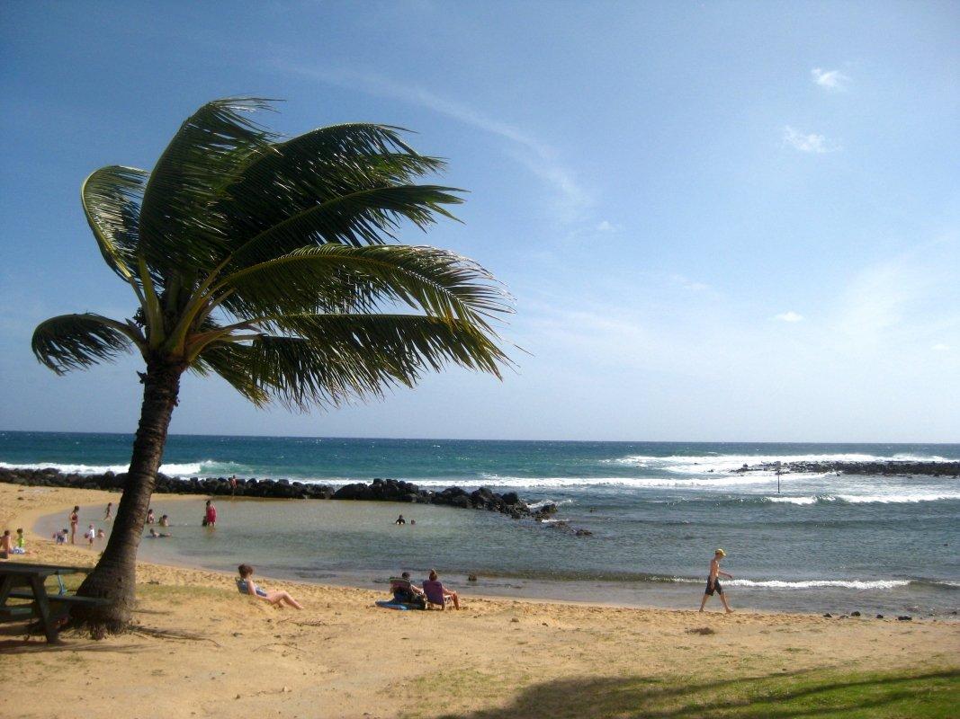 Poi Pu Beach - Kauai, Hawaii