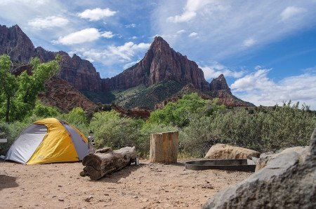 Tent Camping Wilderness Mountains