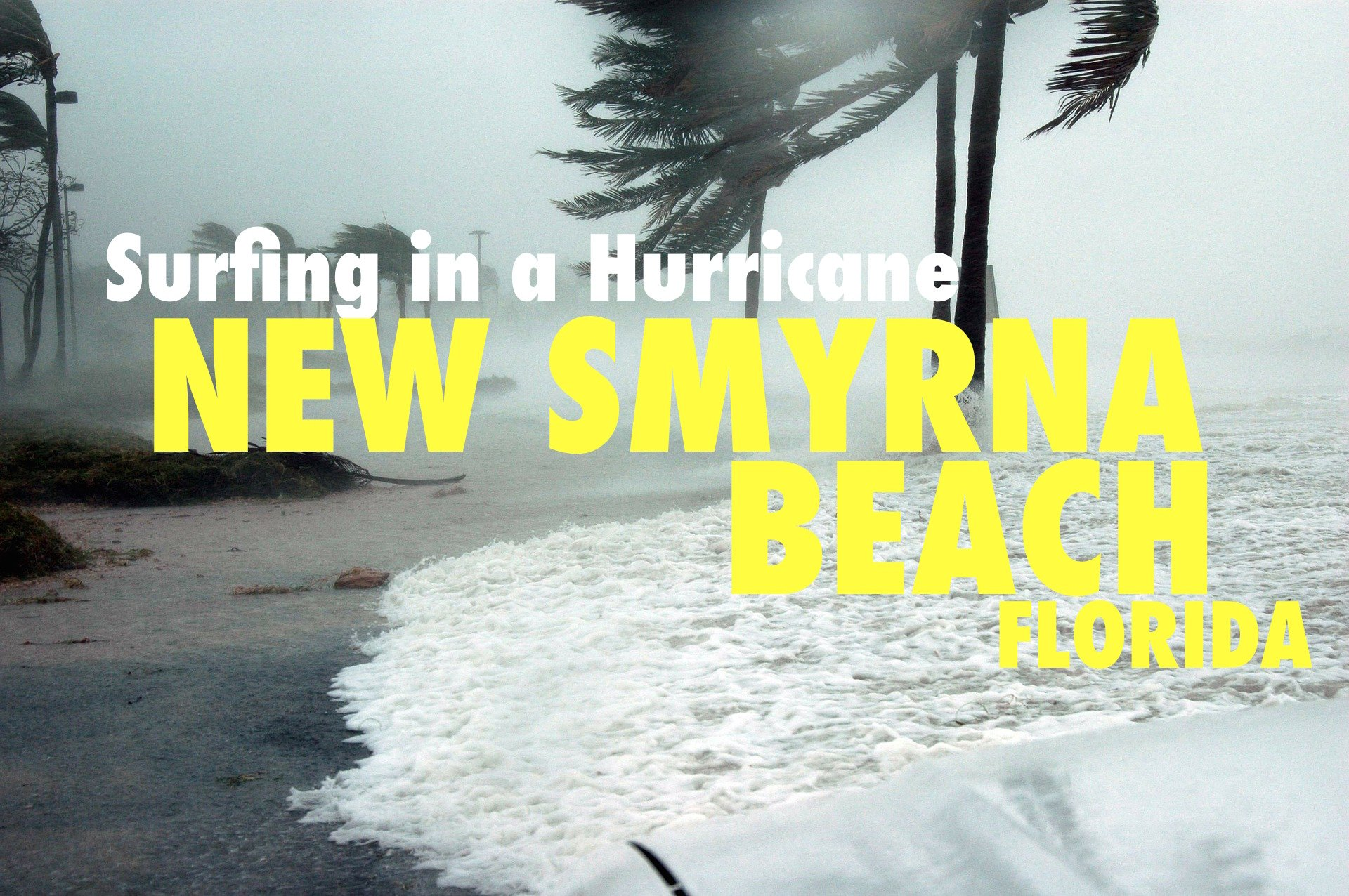 Surfing in a Hurricane New Smyrna Beach Florida