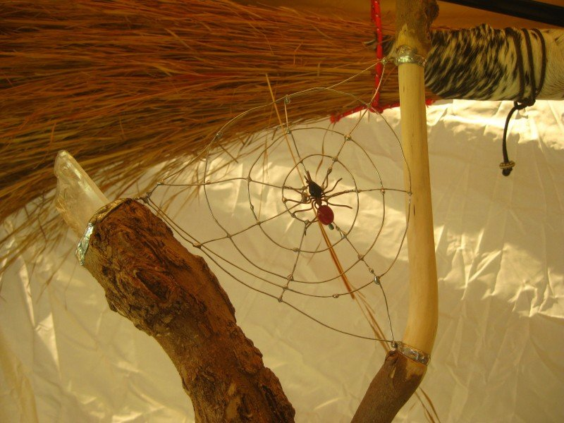 Spider Staff Witchcraft at the Pagan Festival in Ocala, Florida