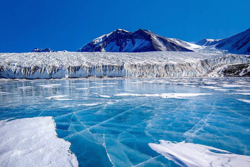 Travel to the Antarctic - frozen in time.