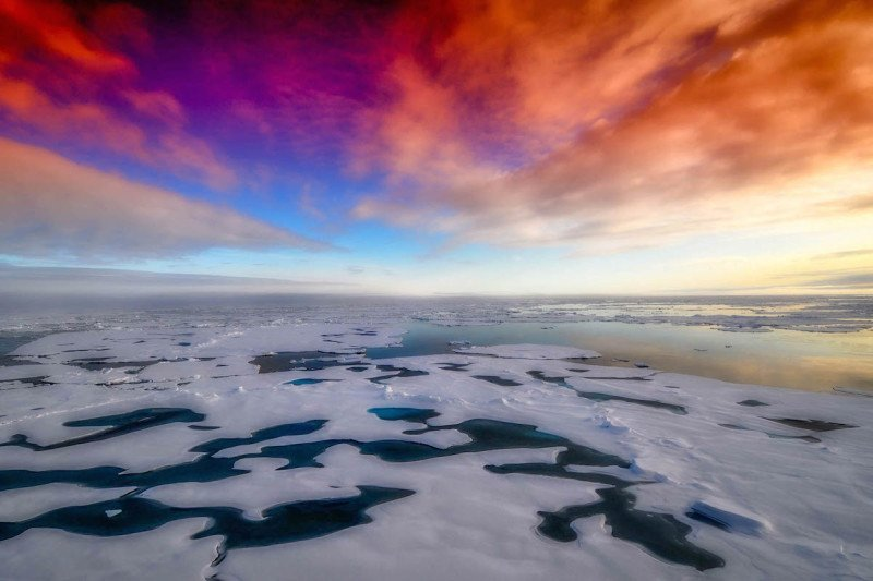 Sunsets in Antarctica are glorious!