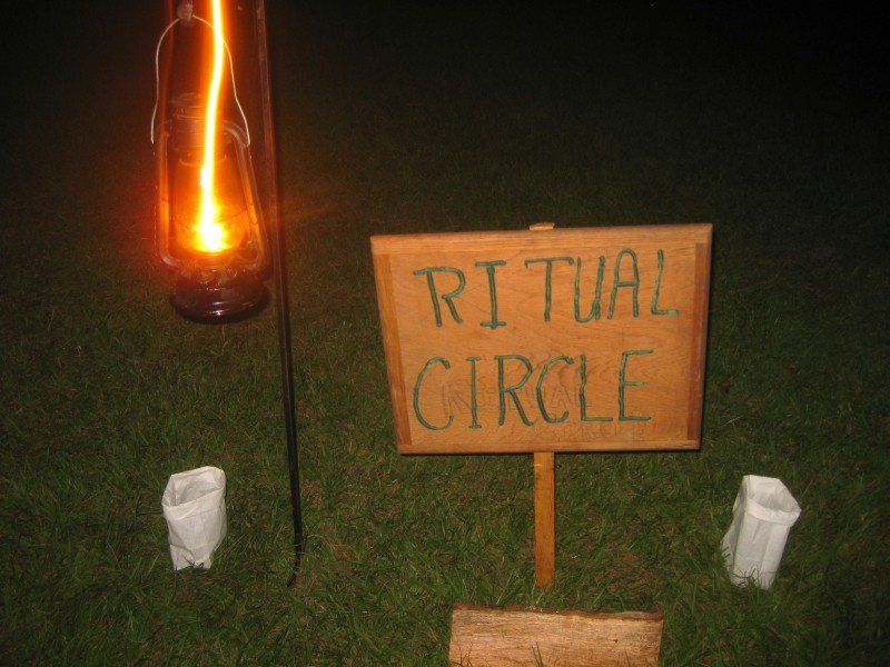Ritual Circle Entrance Witchcraft at the Pagan Festival in Ocala, Florida