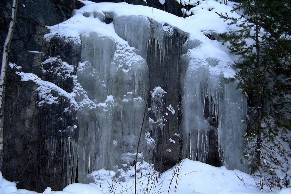 Waterfall in the Pocono Mountains | Winter Holidays