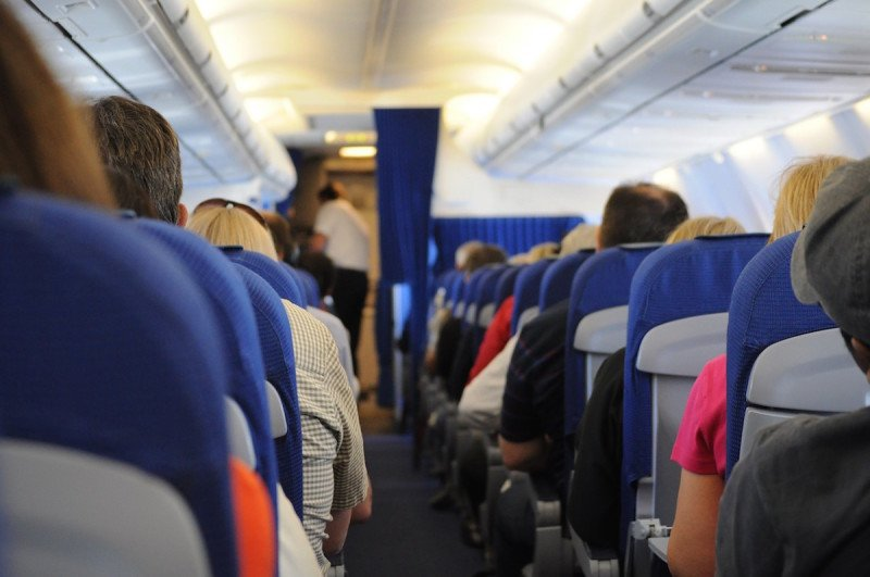 Airplane seats people airline plane flight fly