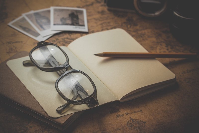 Travel Writing Glasses Map