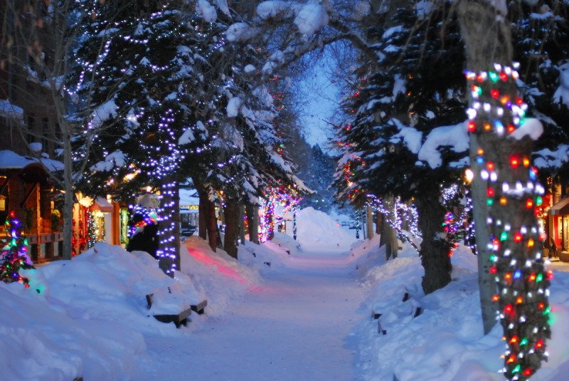 downtown aspen colorado winter wonderland