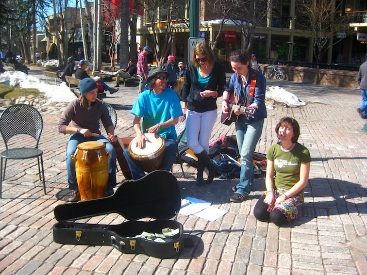 Live Music in the Streets of Downtown Aspen