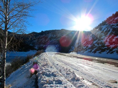 Ruedi Road trip snow colorado