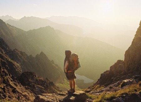 Backpacking Nomad Mountains Valley Sunrise