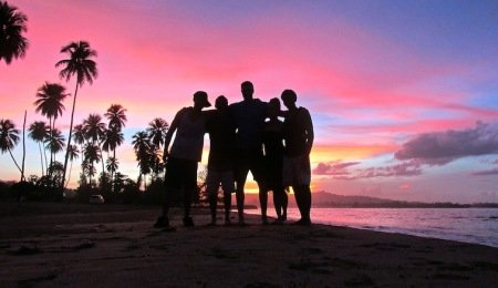 Friends Puerto Rico Beach Sunset
