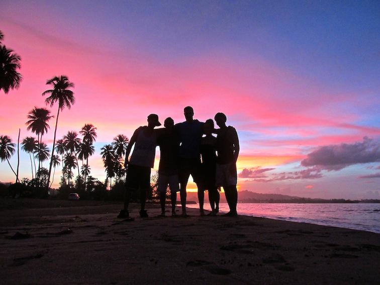 Friends Puerto Rico Beach Sunset