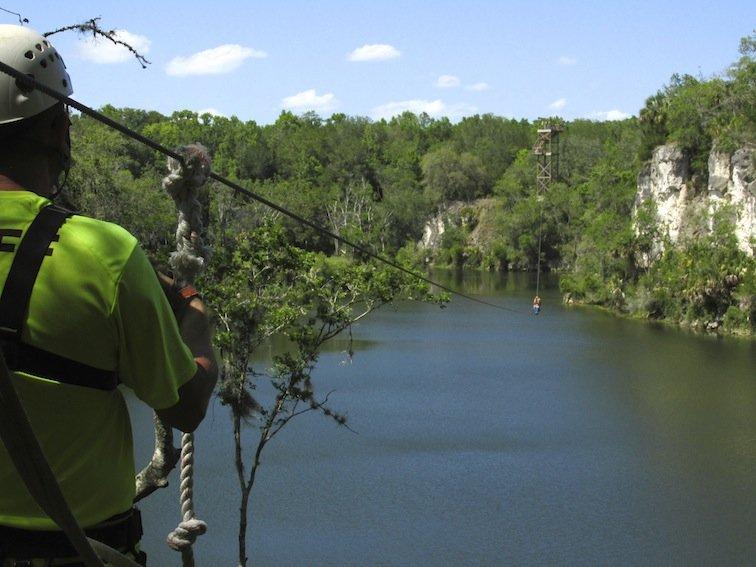 Zipline over the water