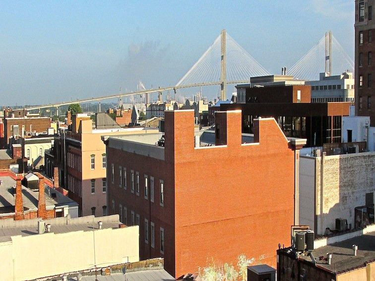 Rooftop View of Savannah