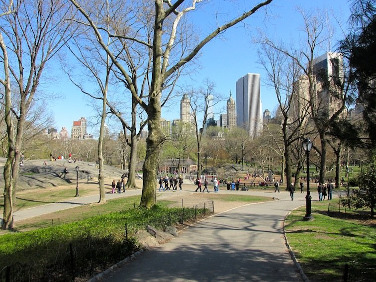 Hiking in Central Park - New York City