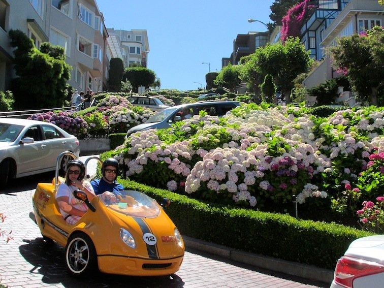 GoCar down Lombard Street