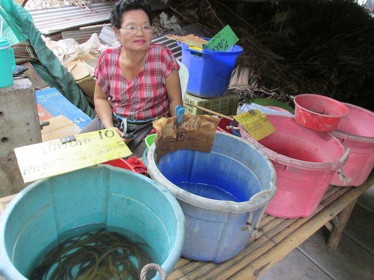 Eels Floating market food