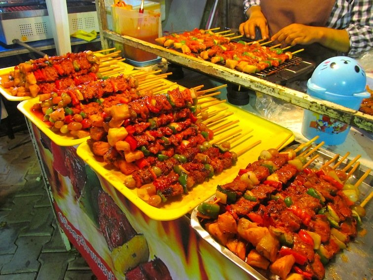 Chiang Mai Night Market Thailand Food Kabob