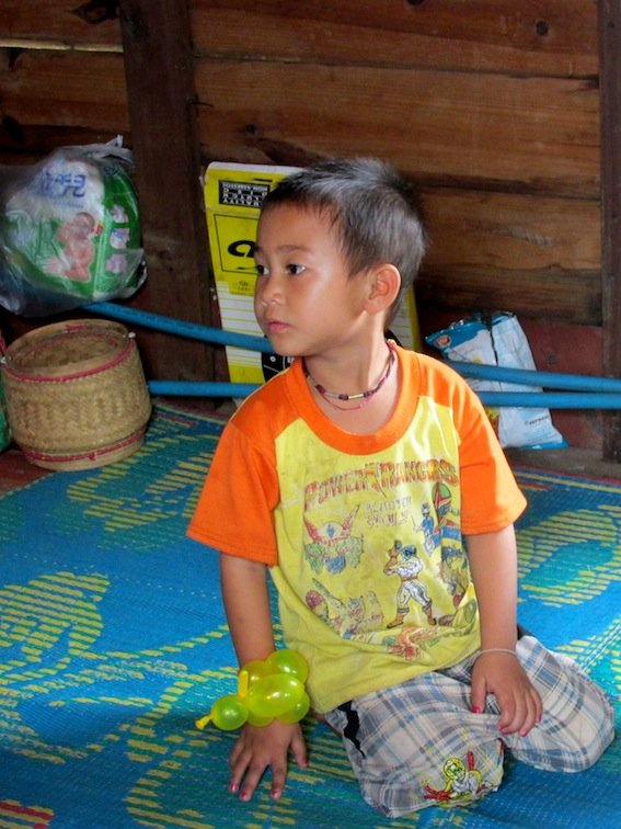 Slow boat Cruise Mekong Laos Child