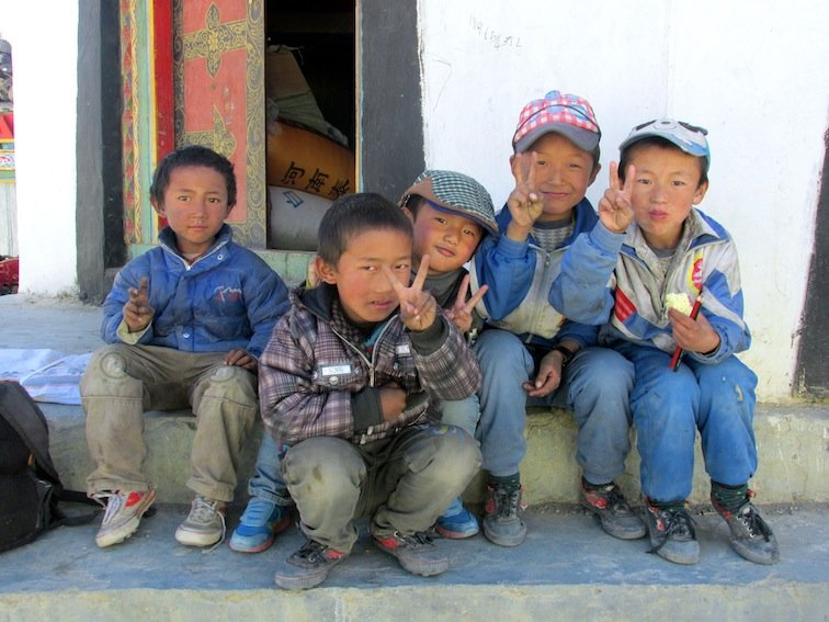 China Asia Backcountry Tibet Village Children
