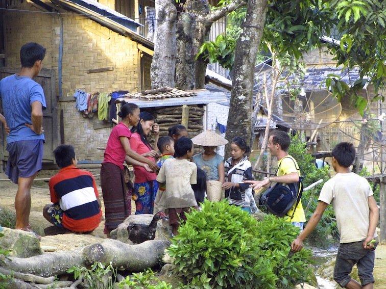 Trekking to Chantanohm Banna Village Northern Laos Candy Children