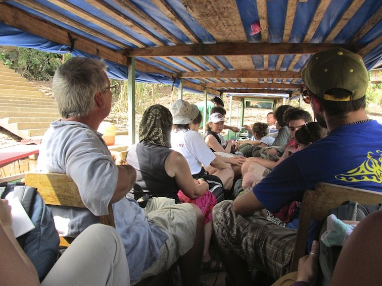 Trekking to Chantanohm Banna Village Northern Laos Boat Ferry