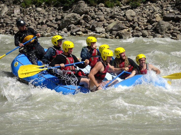 Whitewater Rafting Kali Gandaki River Paddle Nepal