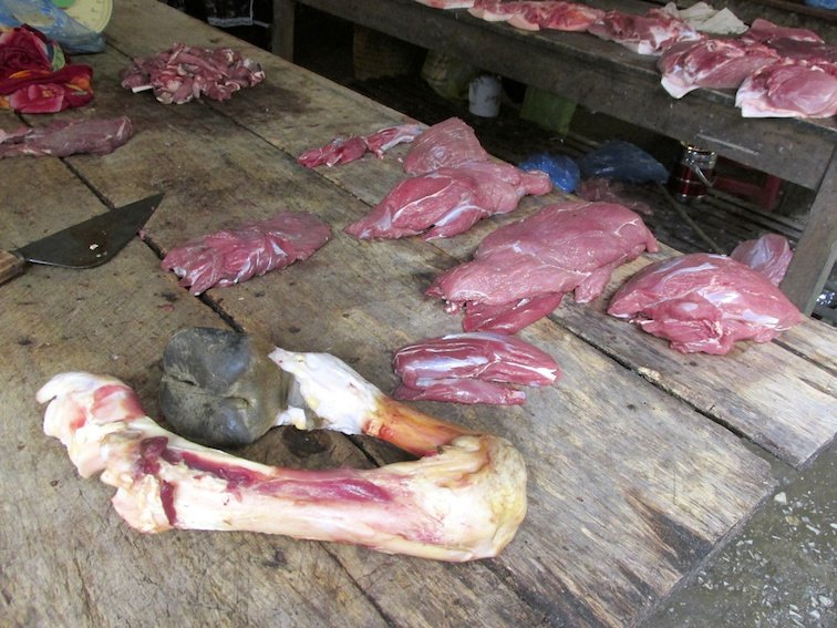 Sapa Vietnam Market Cow Meat