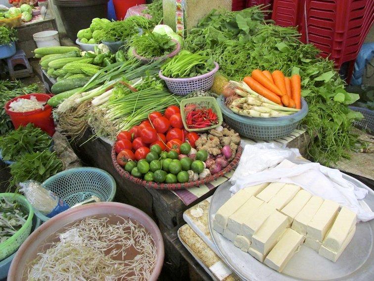 Sapa Vietnam Market Vegetables Cheese