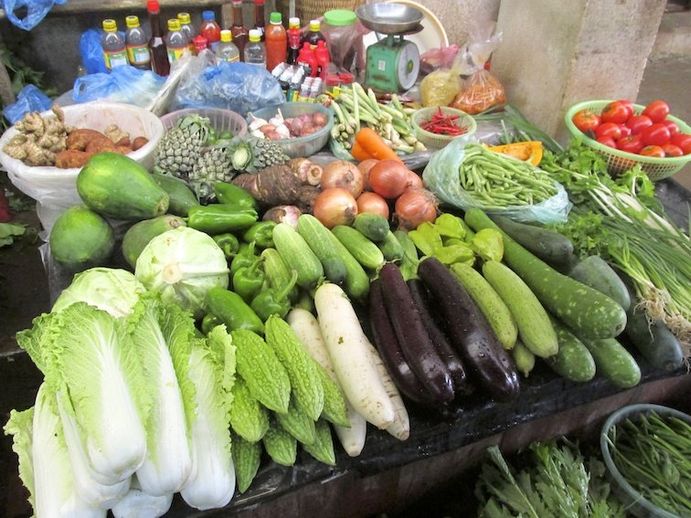 Sapa Vietnam Market Vegetables