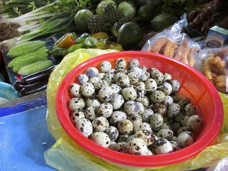Sapa Vietnam Market Basket Quail Eggs