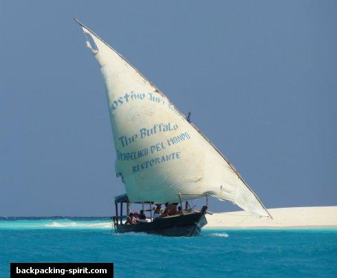 Zanzibar Africa Beach Sand Fishing Sailing Sailboat