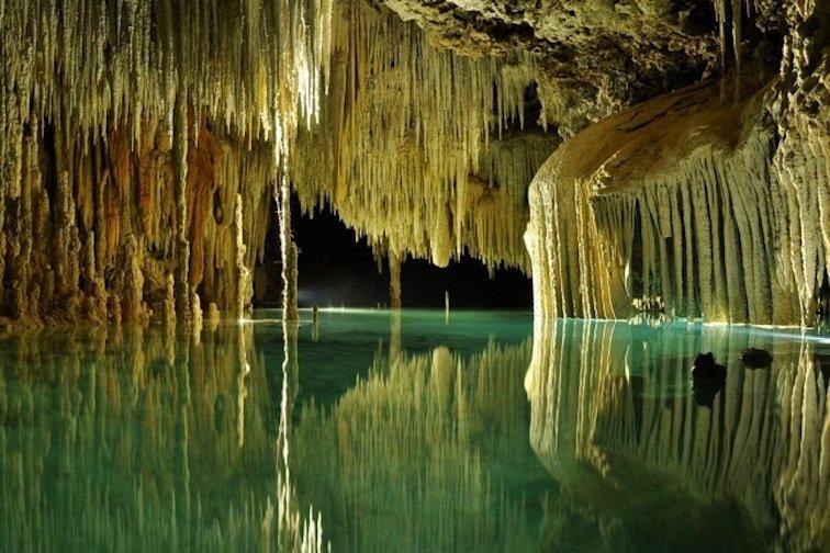Rio Secreto Underground River Stalagmite Mexico Maya Riviera