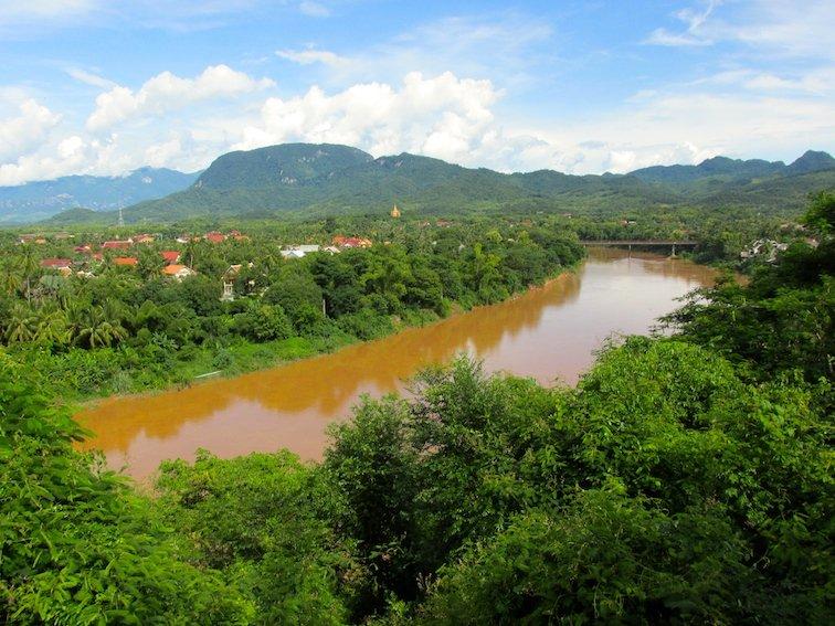 Mount Phousi Laos Luang Prabang River