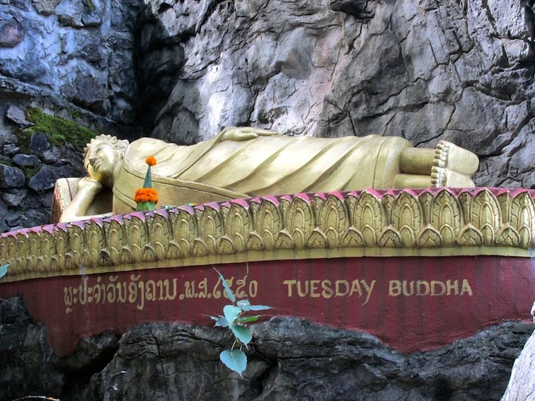 Mount Phousi Laos Luang Prabang Buddha