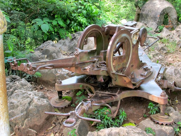 Mount Phousi Laos Luang Prabang War Gun Machine