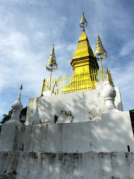 Mount Phousi Laos Luang Prabang Buddha Stoupa