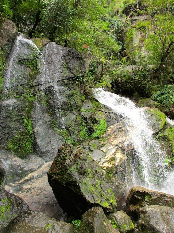 Hiking Shivapuri Peak Kathmandu Nepal Waterfall