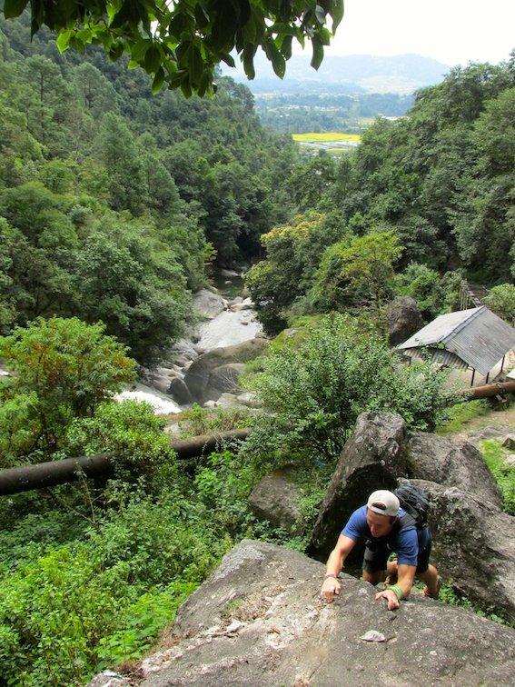 Hiking Shivapuri Peak Kathmandu Nepal Creek Climbing
