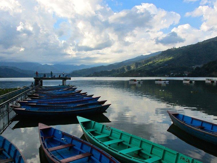 Fewa Phewa Lake Tal Pokhara Nepal Boat