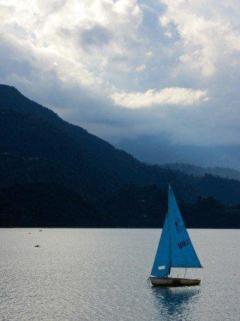 Fewa Phewa Lake Tal Pokhara Nepal Sailboat