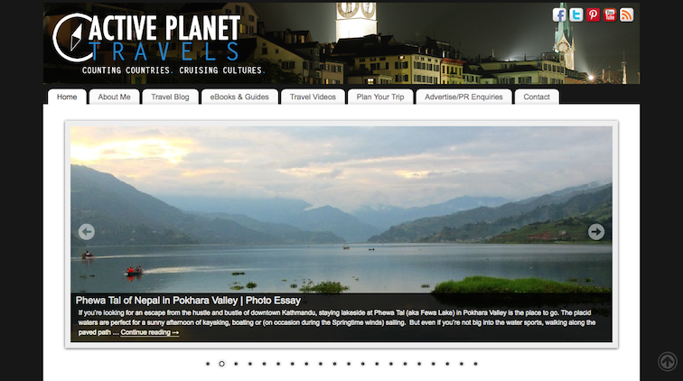 Active Planet Travels Blog Home Page