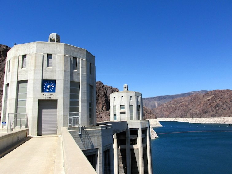 Hoover Dam Black Canyon Colorado River Nevada Time Zone