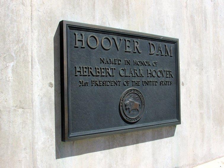 Hoover Dam Black Canyon Colorado River Nevada President