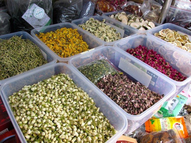 Kunming Bird & Flower Market China Dried Tea Herbs