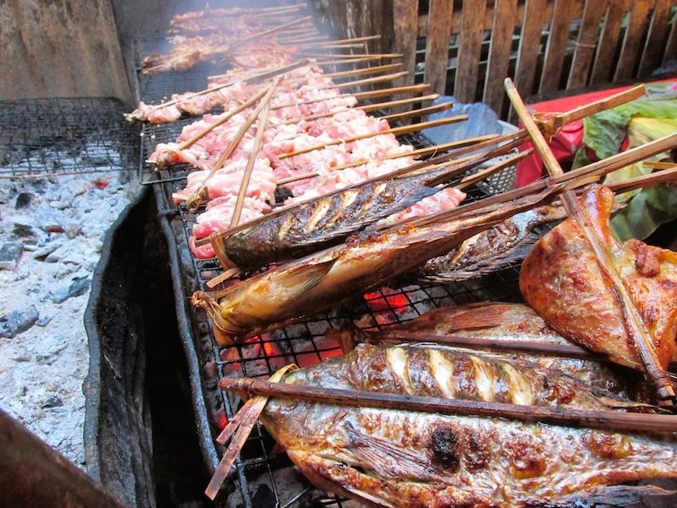 Amazing Food at the Luang Prabang Night Market in Laos Fish